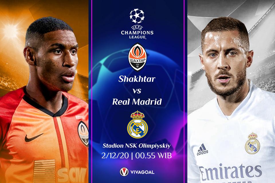 Shakhtar vs Real Madrid; Prediksi Pertandingan dan Link Live Streaming