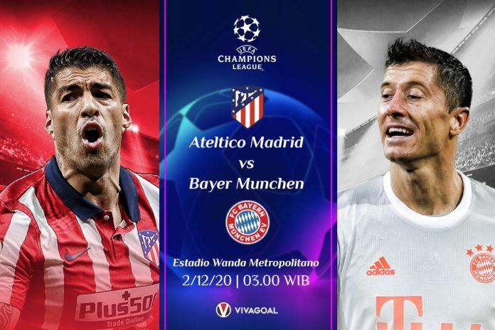 Atletico vs Bayern Munchen:Prediksi Pertandingan dan Link Live Streaming