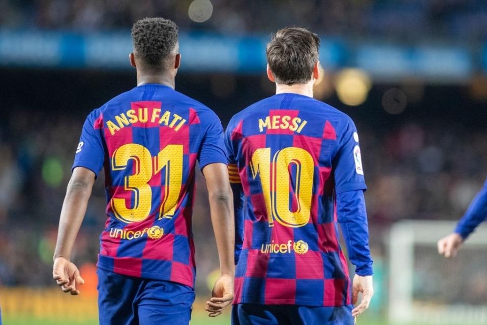 Ansu Fati Messi
