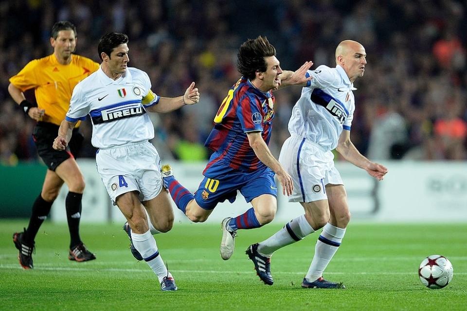 Messi Javier Zanetti