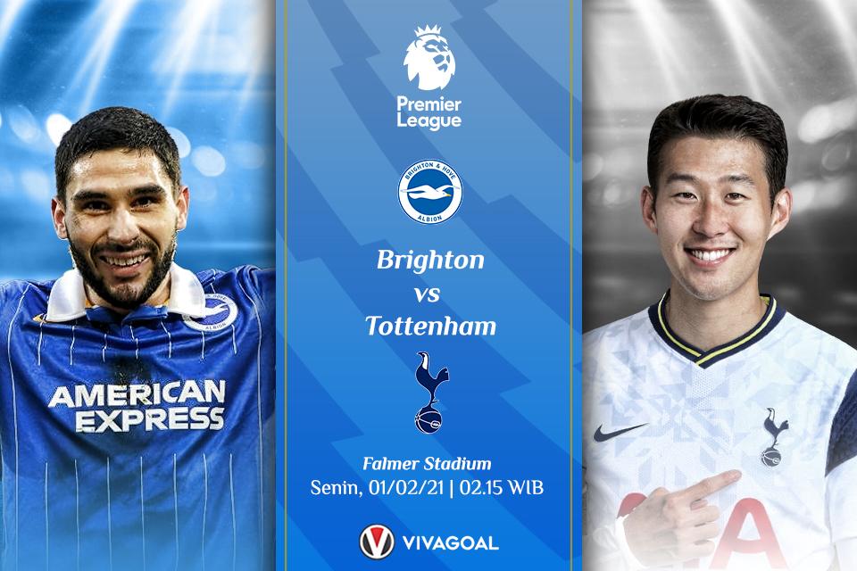 Prediksi Brighton vs Tottenham: The Lilywhites Targetkan Kembali ke-5 Besar