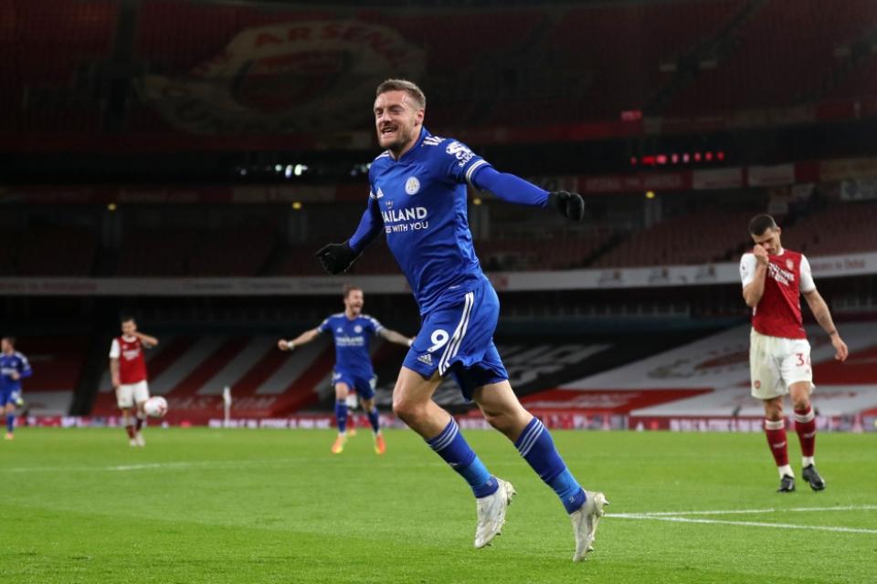 Leicester vs Arsenal: Jamie Vardy, Meriam Penakluk The Gunners
