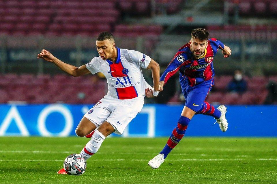 Mbappe vs Barcelona Pique