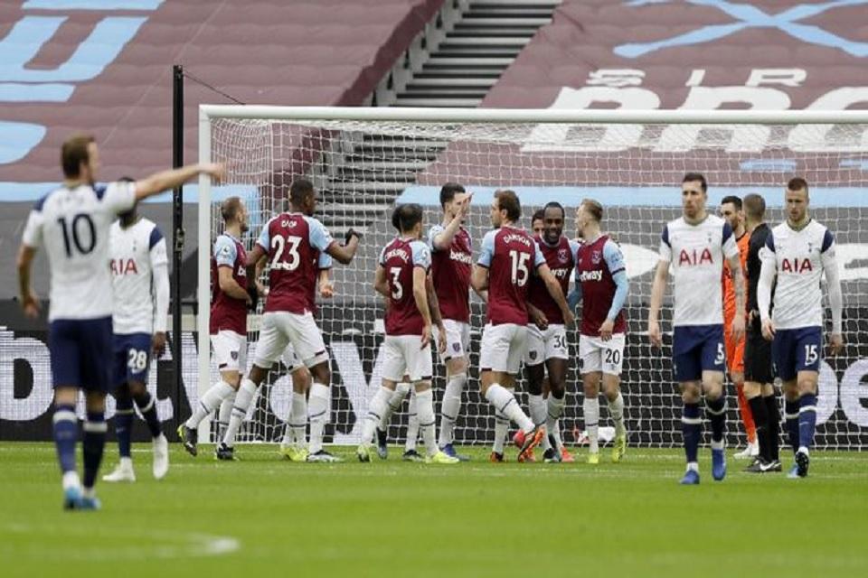West Ham Jamu Tottenham Dengan Dua Gol Kemenangan