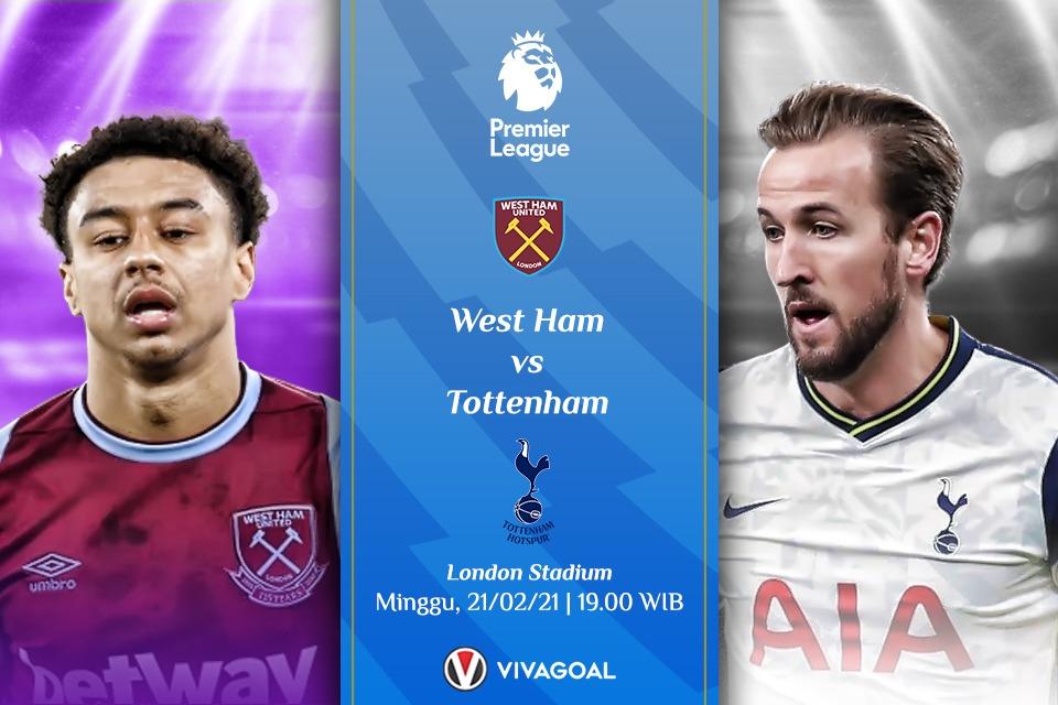 Prediksi West Ham vs Tottenham; Beda Misi Satu Tujuan, Ingin Menang