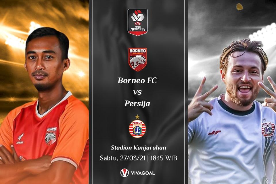 Borneo FC vs Persija Jakarta : Prediksi dan Link Live Streaming
