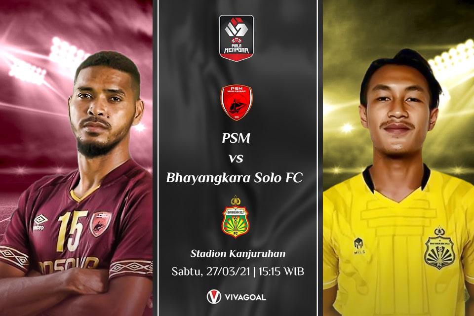 PSM Makassar vs Bhayangkara FC : Prediksi dan Link Live Streaming