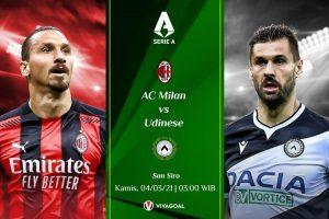 Prediksi AC Milan vs Udinese: Tim Tamu Berpotensi Merepotkan