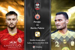 Persija Jakarta vs Barito Putera: Prediksi dan Link Live Streaming