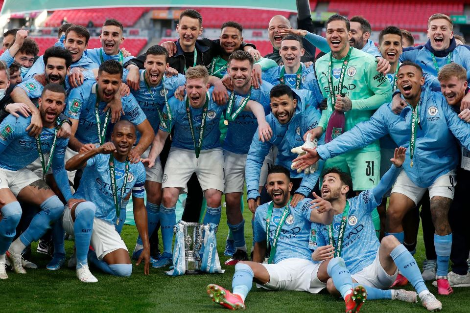 Trofi Liga Inggris Pembuka Jalan Man City Raih Treble Musim Ini