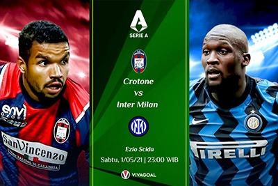 Prediksi Crotone vs Inter Milan: Kans Nerazzurri Kunci Gelar Juara