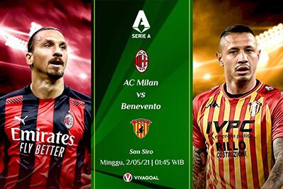 Prediksi AC Milan vs Benevento: Lupakan Scudetto, Fokus di Empat Besar