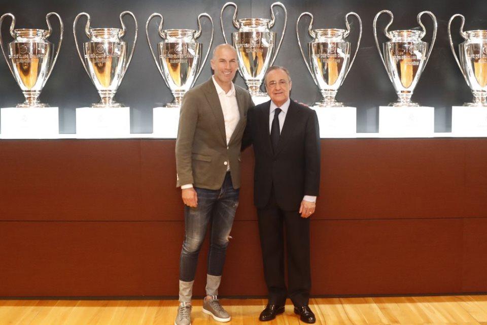 Florentino Perez: Saya Berusaha Agar Zidane Bertahan