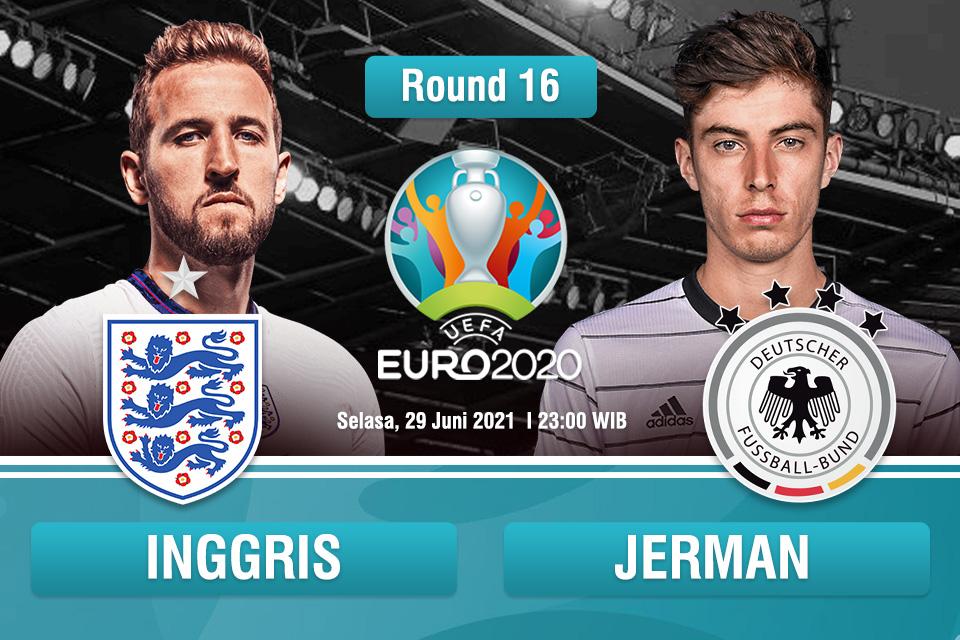 Prediksi Inggris vs Jerman: Duel Historis yang Bakal Berat Sebelah