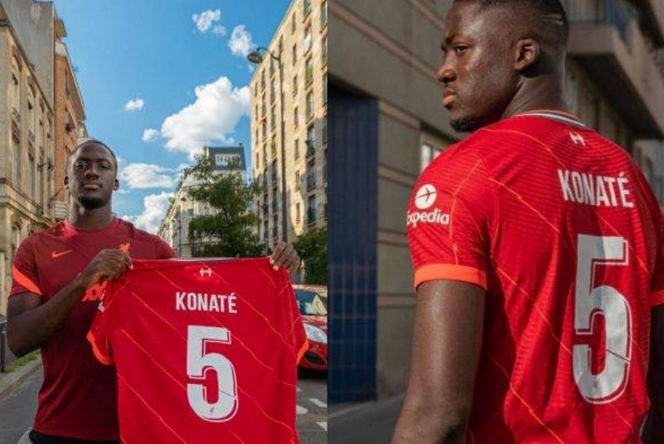 Ibrahima Konate Liverpool No 5