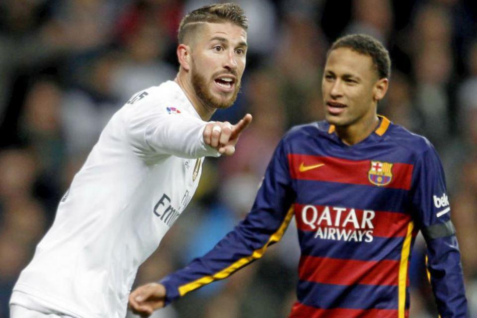 Sergio Ramos Tak Pernah Anggap Neymar Sebagai Rival