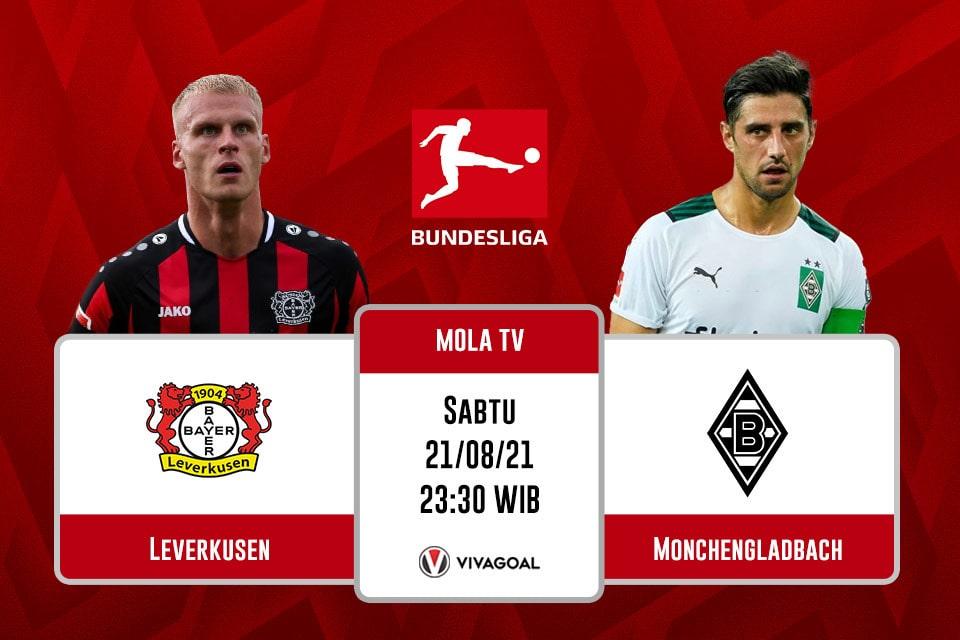 Leverkusen vs Monchengladbach : Prediksi dan Link Live Streaming