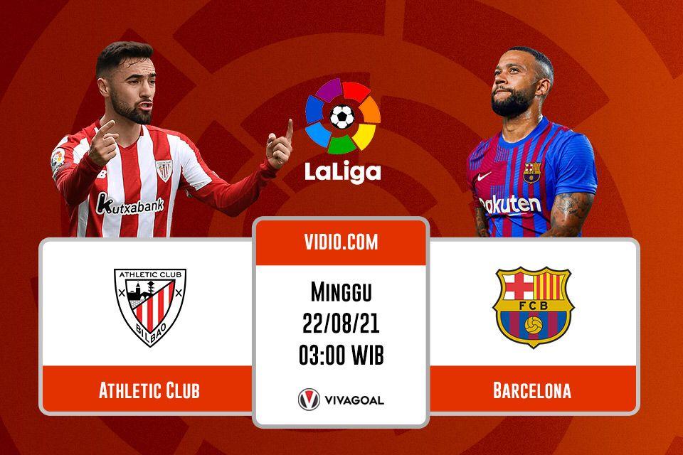 Athletic Bilbao vs Barcelona: Prediksi dan Link Live Streaming