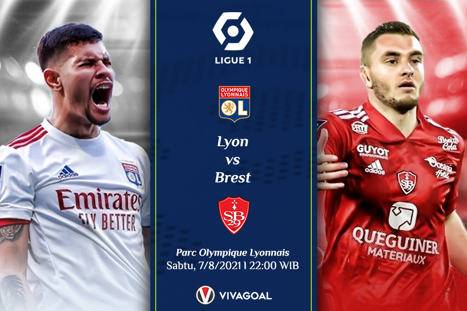 Lyon Vs Brest: Prediksi dan Link Live Streaming