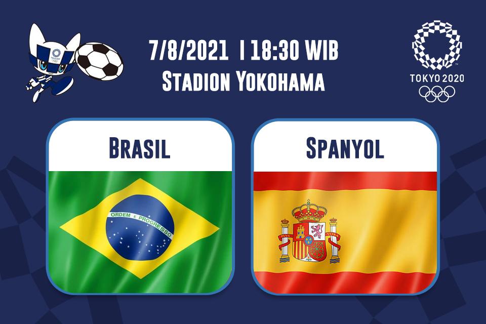Brasil Vs Spanyol: Prediksi dan Link Live Streaming