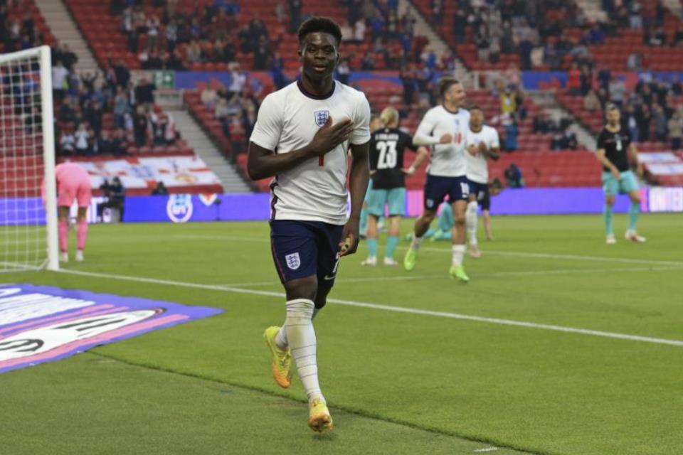 Rayakan Ulang Tahun Dengan Cetak Gol di Wembley, Bukayo Saka: Seperti Mimpi