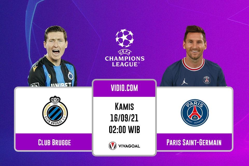 Club Brugge vs PSG: Prediksi dan Link Live Streaming