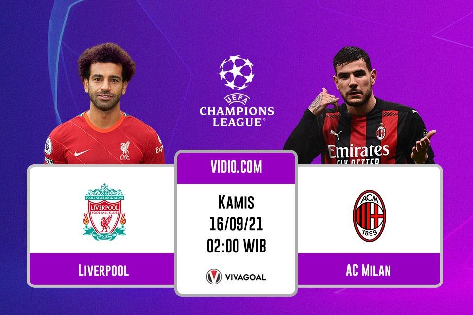 Liverpool vs AC Milan: Prediksi dan Link Live Streaming