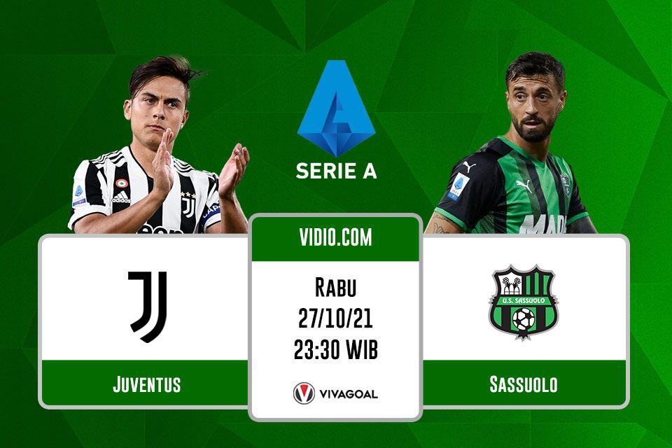 Juventus vs Sassuolo: Prediksi dan Link Live Streaming