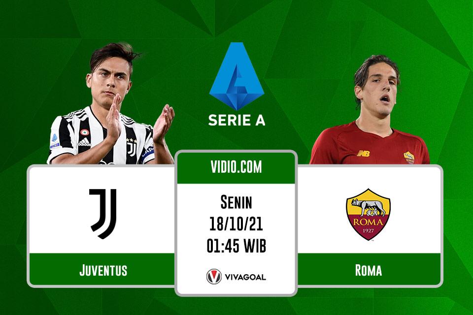 Juventus vs AS Roma: Prediksi dan Link Live Streaming