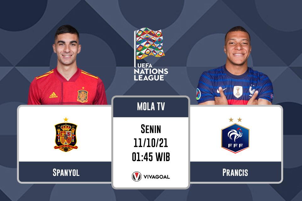 Spanyol vs Prancis: Prediksi dan Link Live Streaming
